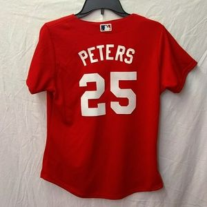 🛑 Red Sox Majestic Jersey custom? Peters 25